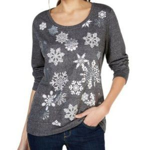 Style & Co Plus Size Holiday Sweatshirt Gray